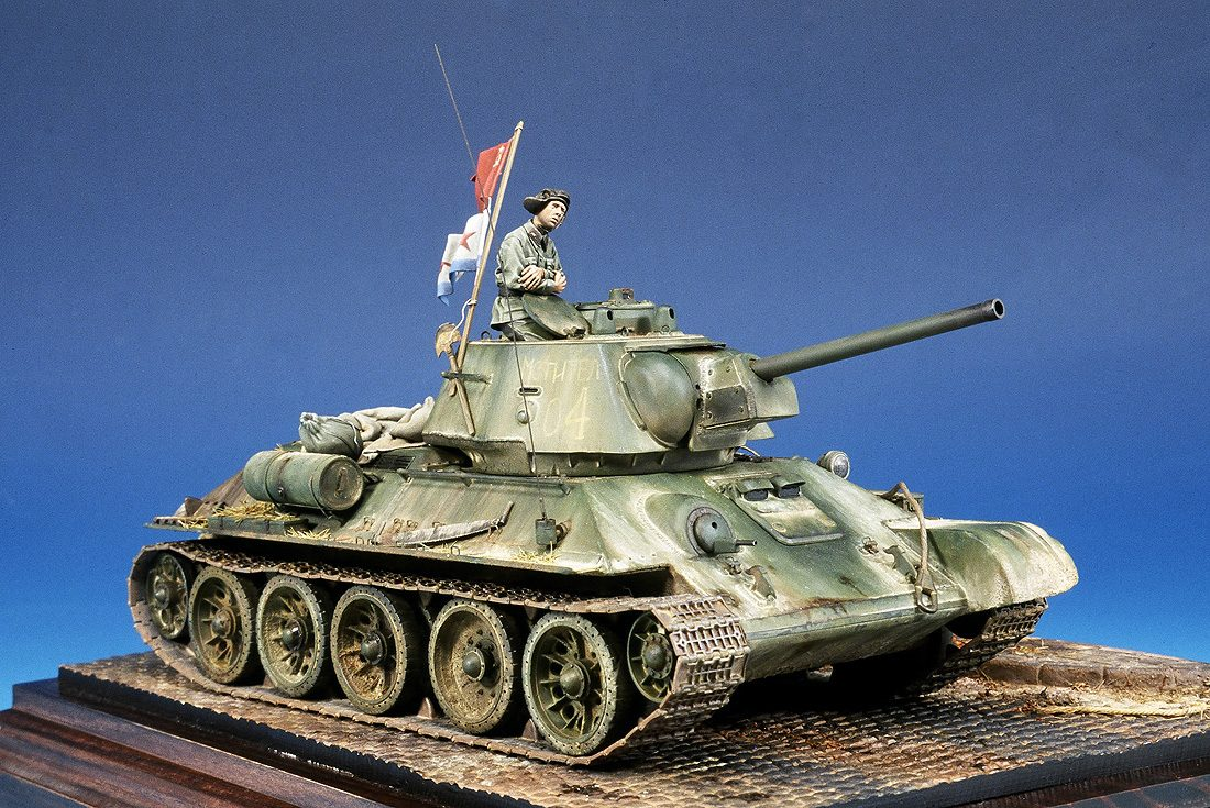 "T-34/76 Model 1943; ""One on the first tanks into Sebastopol"""