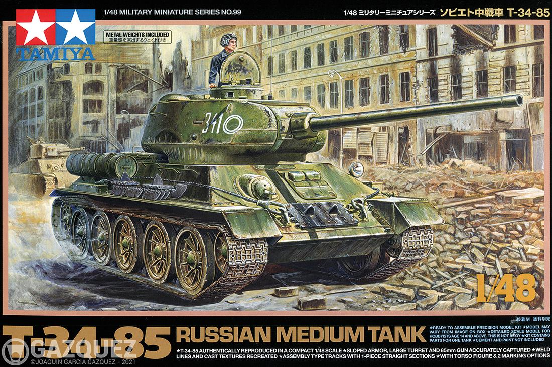 Review: Tamiya T-34/85 «Russian Medium Tank», 1/48, Item 32599