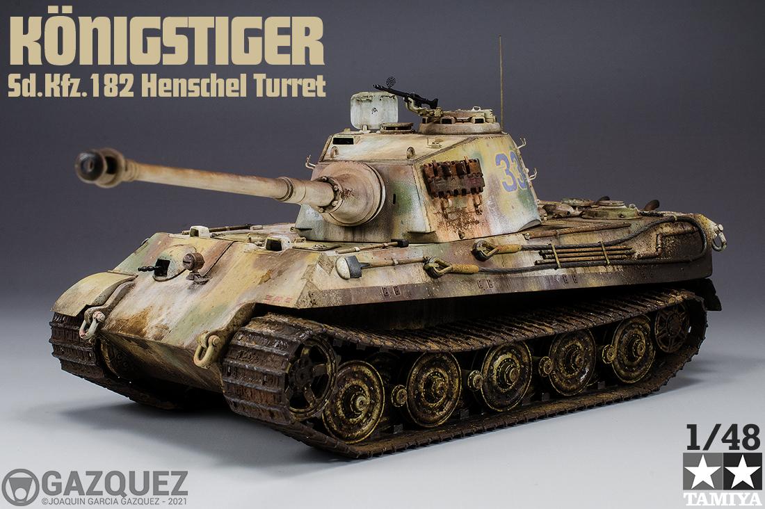 Königstiger Sd.Kfz.182 Henschel Turret, Tamiya 1/48