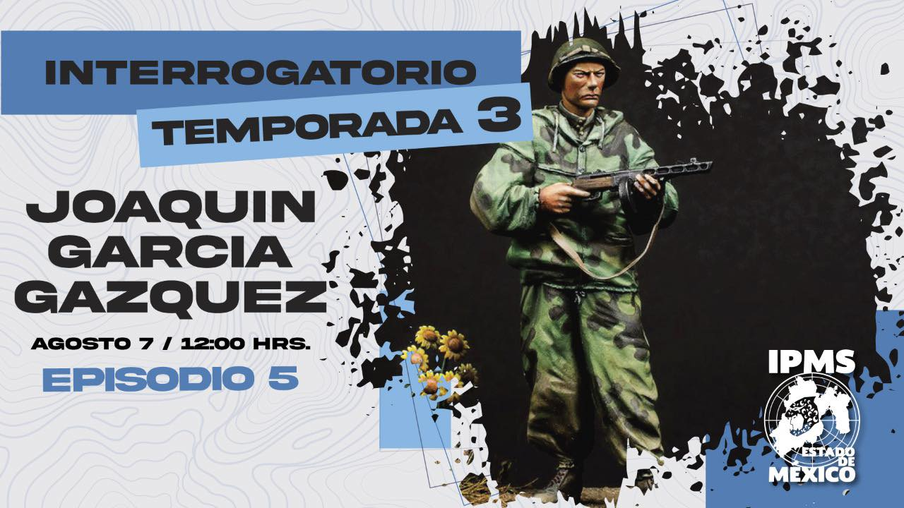 Charla en Directo en IPMS México, Sábado 7 Agosto 2021